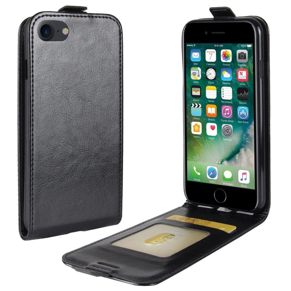 Retro Flip Wallet Vertical PU Leather Case Cover For Apple