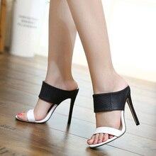 Fashion Women Summer High heel Sandals Black White