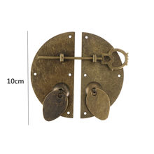 "Chinese Style Furniture Hardware Iron Door Knocking Knocker Pull Vintage Lock Catch For Cabinet Cupboard Drawer 100mm/3.94""(China)"