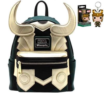 Les Avengers Marvel Loki sac à dos garçon sac grande qualité Loki Cosplay Mini sac à dos cadeau de noël