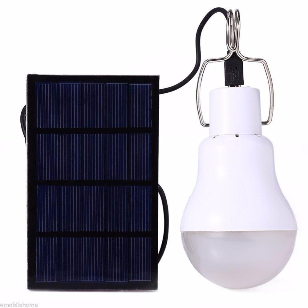 Neue LED Solar lampe 15 watt 130lm Kein flimmern Solar energiesparlampe lampe für Led-arbeits-camping-zelt-fischen Hof Notfall beleuchtung