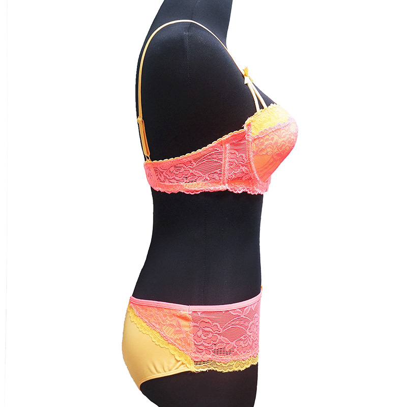 a1b096029cfd € 4.06 10% de DESCUENTO|CYHWR las mujeres encaje sexy ropa interior arco V  profundo sujetadores tallas grandes Lencería copa D E en Sujetador y ...