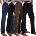 Calças de outono e inverno homem calça casuais calças retas Zipper masculino clássico calças frete grátis