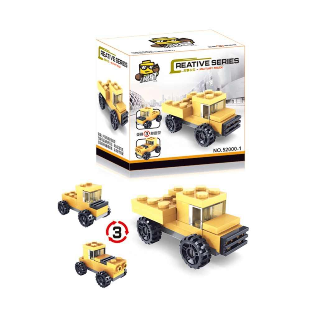 3 Jenis Dalam 1 Deformasi Mobil Mainan DIY Transformasi Mobil Perakitan Model Anak-anak Anak Perkembangan Mainan untuk Anak-anak Hadiah Ulang Tahun
