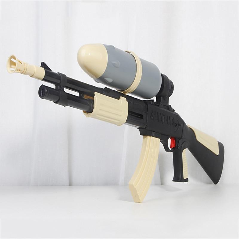 Plastic Toy Water Gun Oversized Pull-Type Air Gun Toy Children Outdoor Water Shooting Pistol Boy Sniper Water Gun Children Gift