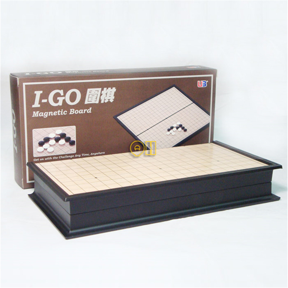 BSTFAMLY Magnetic Go Chess 19 Road 361 Pcs Set Chinese Old Game of Go Weiqi International Checkers Folding Table Toy Gifts G01 in Chess Sets from Sports Entertainment