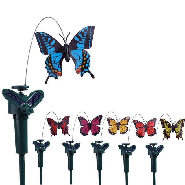 Superieur Hot Sale Garden Decoration Solar Flying Butterfly Artificial Fluttering  Solar Energy Flying Simulation Butterfly Color Ranodm