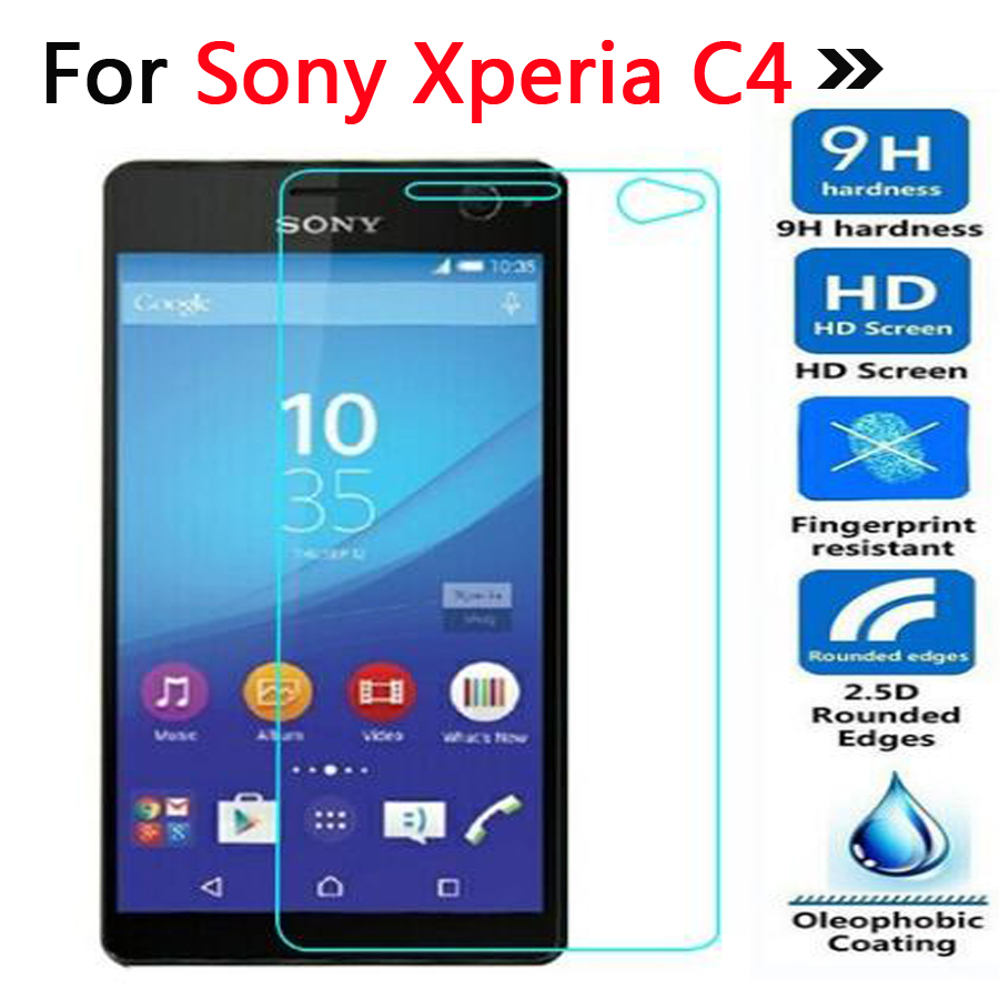 Tempered Glass For Sony Xperia C4 Screen Protector Toughened Protective Cover For Sony Xperia C4 Dual E5333 E530 Film Guard Case