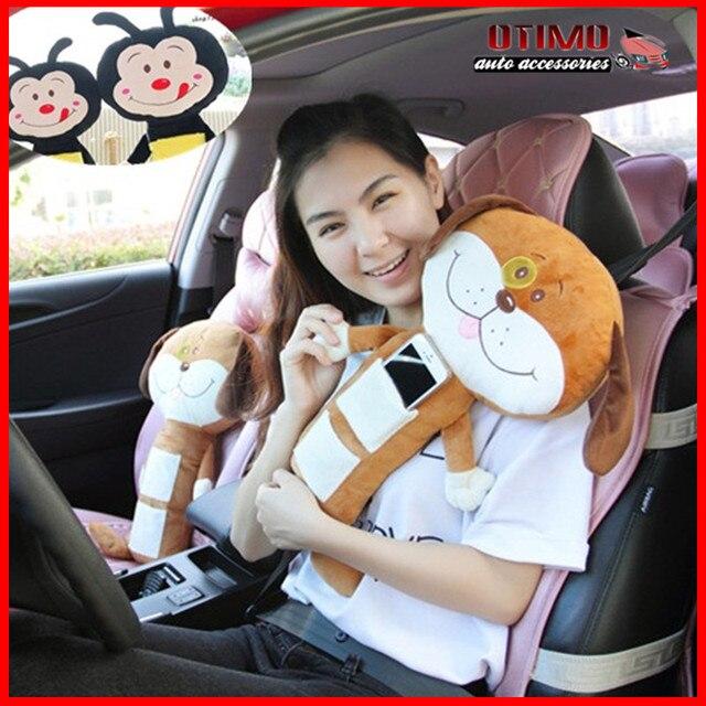 Плюшевые дети собачка автомобилей ремни безопасности чехол на рождество подарок сиденье домашние наволочка собака ремень безопасности обложка взрослые дети дети
