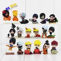 6pcs/set Anime Naruto Figures Uzumaki Naruto Kakashi Sasuke Sakura Yunyo Shino Rokku Rii Orochimaru Gaara Pvc Action Figure Toys