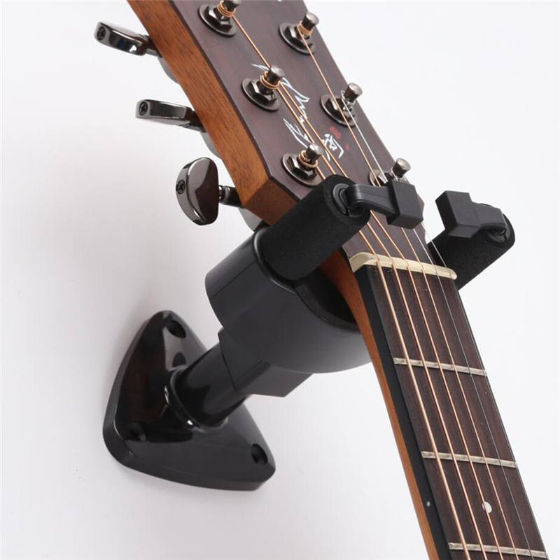 guitar stand wall mount stand hooker fits most bass ukulele guitar wall bracket holder various. Black Bedroom Furniture Sets. Home Design Ideas