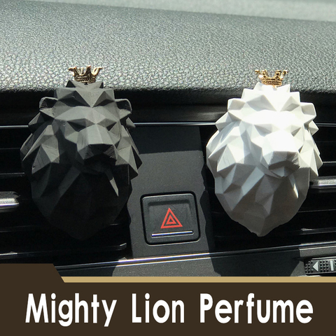 carro automatico ambientador perfume clipes fragrancia ceramica coroa leao saida de ar ventilacao fresco masculino