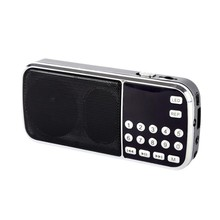 New Arrival Rechargeable portable mini pocket digital FM radio with USB port TF micro SD card slot Free shipping