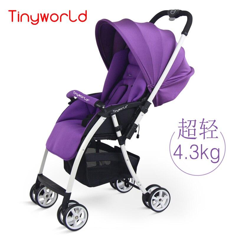 4.3kg Light Baby Stroller Can Sit & Lie  Two-way Pushchair Children Cart With Anti-UV Umbrella, Portable Pram