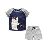 New Children's Clothing Cotton Cartoon Printing Boy Suit 2019 Summer Kids Clothes Set 2 7t Hot Sale T shit+pants