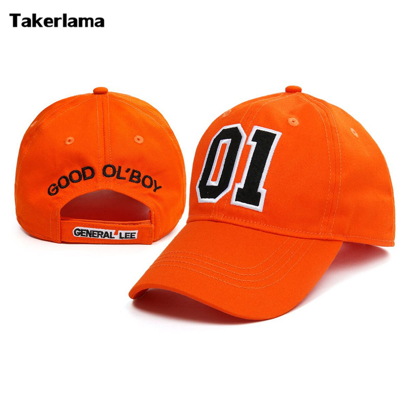 Takerlama General General Lee 01 Cotwm wedi'i frodio Cap Twill Cap Hat Dukes of Hazzard Da OL 'Boy Unisex Hat Baseque Applique Oedolion