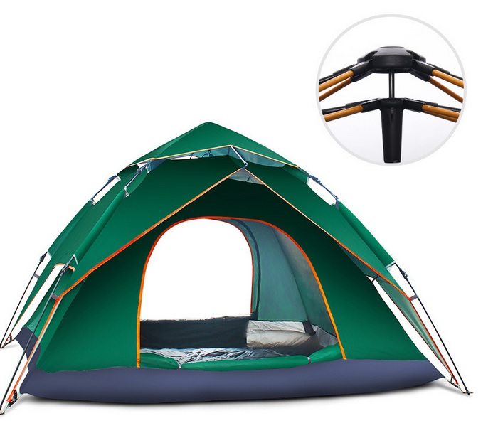 4 Person 240x210x135cm Double Layers Large Camping Tent Umbrella Type Outdoor G4 Automatic Hydraulic Tent fulang aluminium alloy fishing rotatable umbrella heat protection double layers 2m r35