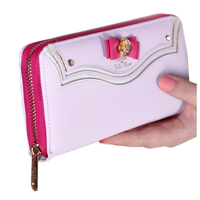 TEXU Janpanese style Sailor Moon Zipper Female leather wallets Women brand Leather long Wallet Purse billetera sailor moon