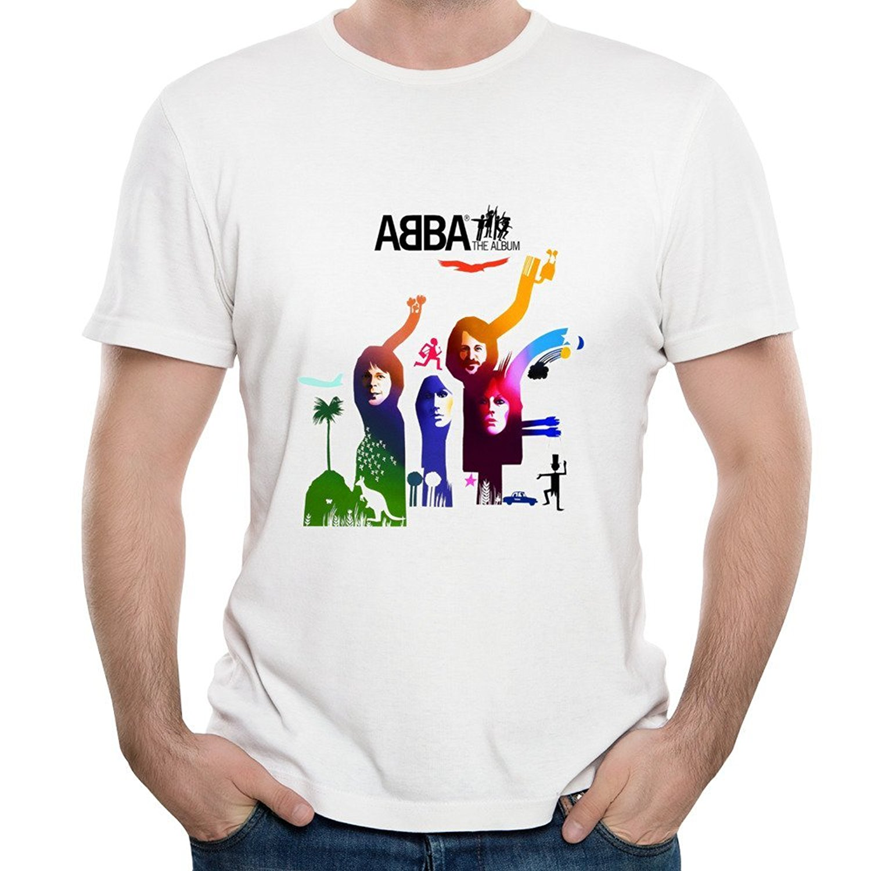 Men's Short-Sleeve Fashion O-Neck Waterloo Album ABBA Rock Band <font><b>Take</b></font> A <font><b>Chance</b></font> On Me Graphic T Shirts