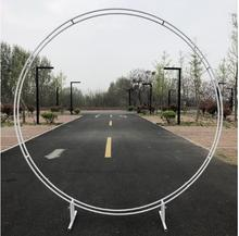 New wedding props ring double pole round arch frame flower door custom