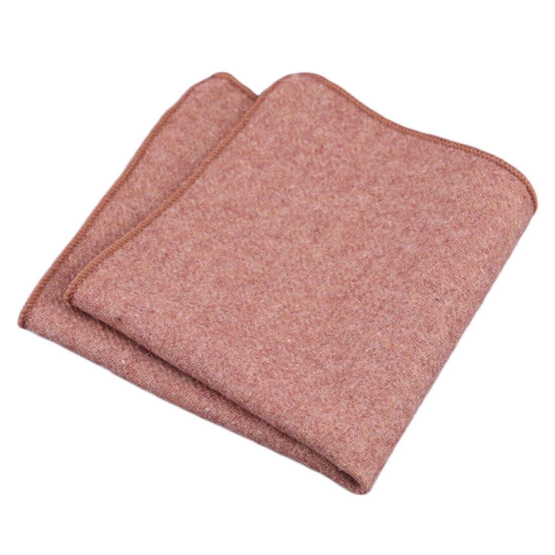Charming Hankerchief Schals Vintage Wolle Taschentücher Herren Einstecktuch Taschentücher Striped Solide Baumwolle 23*23 Cm