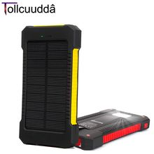 10000mAH Portable Charger Battery Solar Cell Power Pover Bank For Iphone 5 6 Mp3 Universal External Powerbank Batterie Cargador