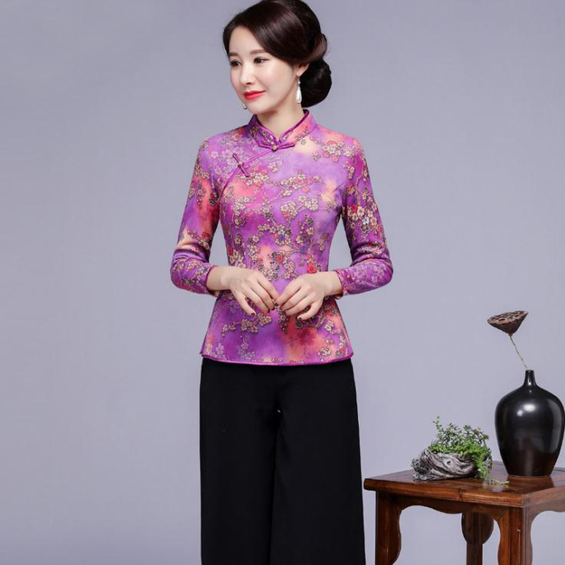 2018 nouveau automne mode femmes chemises élégant trois quarts manches Sexy col Mandarin t-shirt décontracté dessus de chemise femme vêtements