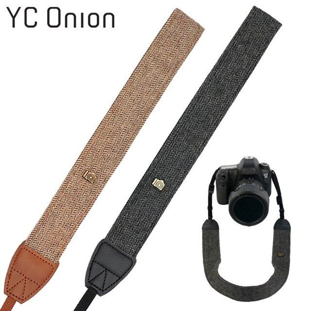 119f50e0bb Universal Vintage Camera Straps Retro Cotton PU Leather Shoulder Strap For  Sony Nikon Canon Pentax DSLR Quick Strap