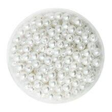 Cerca de 1000 pces redondos 500 pces 50 pces cor branca 6mm diâmetro. Imitação de pérolas de plástico por atacado para fazer jóias CN-BSG01-02WH