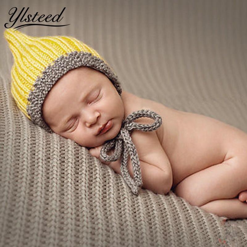 Newborn Props для маленьких мальчиков реквизит для фотосессии новорожденных Вязание шапка зимняя милые Кепки младенческой Подставки для фотогра...