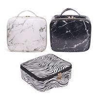 Fashion Makeup Travel Cosmetic Bags Brush Pen Pencil Case Organizer Pouch Holder Bag High Quality PU Makeup Bag