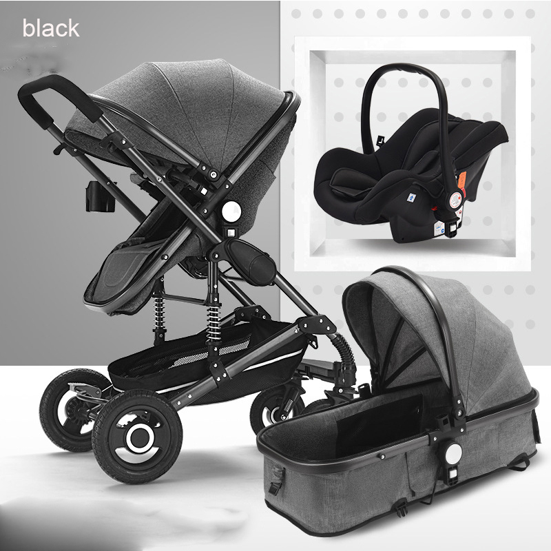 Baby Stroller basket safety seat 3 in1 for Newborn folding Can sit and sleep children buggy for kids