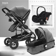 купить Baby Stroller basket safety seat 3 in1 for Newborn folding Can sit and sleep children buggy for kids недорого