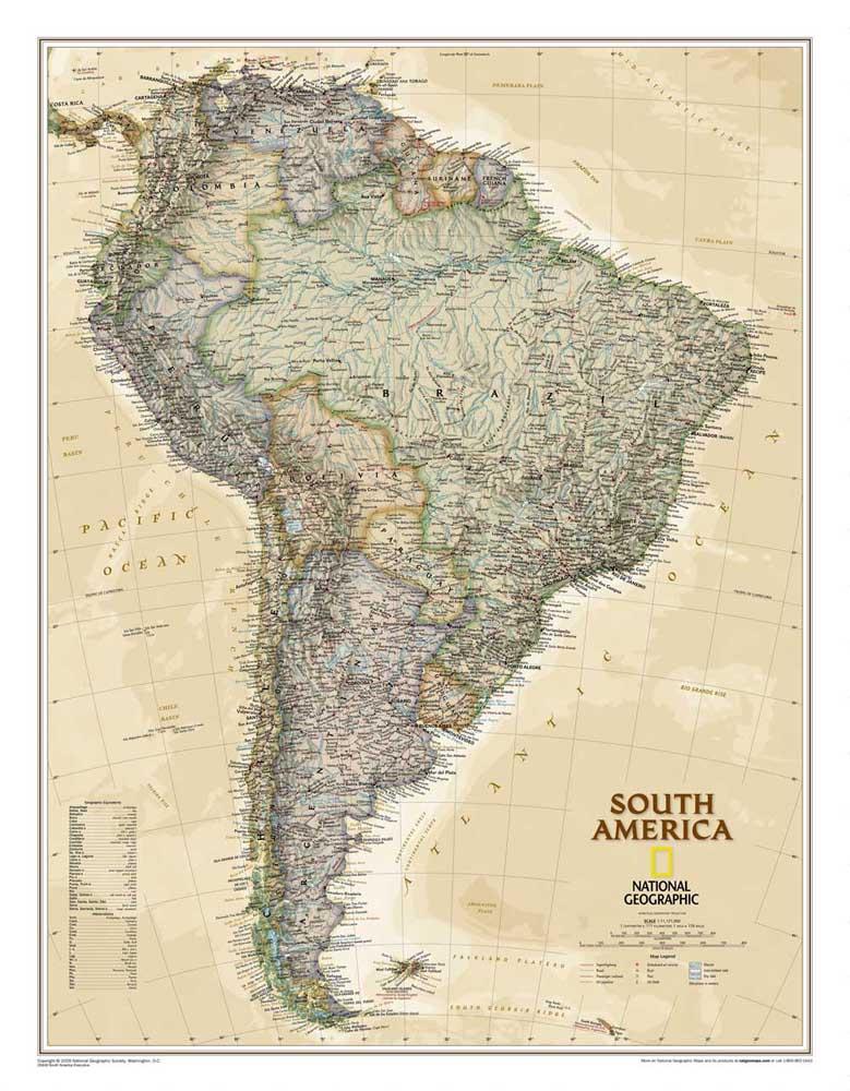 Bezplatny Statku Retro Ameryka Poludniowa Mapa Obraz Olejny Na