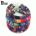 2016 Bohemian Handmade Multicolor Knitted Ribbon Bracelets Bangles Ethnic Charm pulseira feminina pulseras Bijoux Women Jewelry
