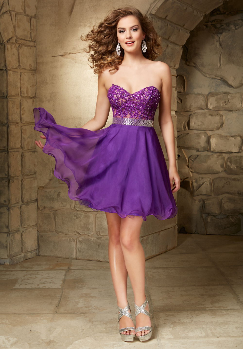 Girls Purple Short Homecoming Dresses 2016 Junior Party Gowns 8th ...