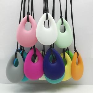 Image 3 - Hot! 20 Stks/partij Tandjes Ketting Sieraden Verpleging Hanger Biologische Bpa Gratis Silicone Bijtring Hanger Speelgoed Voor Verpleging Moeders