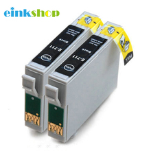 2PK T0711 Ink Cartridge For Epson Stylus D78 D92 D120 DX4000 SX210 SX215 SX218 SX115 SX400 SX405 SX410 SX415 SX605 bloom t0711 71 continuous ink supply system ciss for epson stylus sx215 sx218 sx400 sx405 sx410 sx415 sx510w bx600fw bx610fw