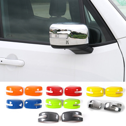 SHINEKA Car-styling ABS Rearview Mirror Cover Side Mirror Cover Frame Trim Protector Sticker for Jeep Renegade 2015+