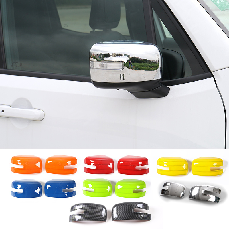 SHINEKA Car styling ABS Rearview Mirror Cover Side Mirror Cover Frame Trim Protector Sticker for Jeep Renegade 2015+