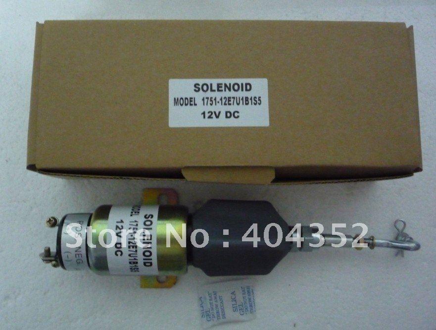 Engine Stop Solenoid 1751-12E7U1B1S5,Free shipping wholesale manufacturer engine stop solenoid vavle 0117 7188 3pcs lot
