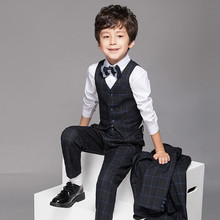 Baby Boy Suit Vest Gentleman Clothes for Weddings Formal Clothing Tops Shirt + Pants + Vest