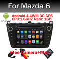 1024*600 Quad Core Android 5.1 GPS Carro DVD para Mazda 6 Ruiyi Ultra 2008 2009 2010 2011 2012 Autoradio Multimídia de Áudio Estéreo BT
