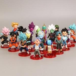 18 Style 8cmX3cm Action Figures Mini Goku Saiyan Vegeta Gohan Dragon Ball Z Figure Boys Toy PVC Model Anime Collection Kid Toy(China)