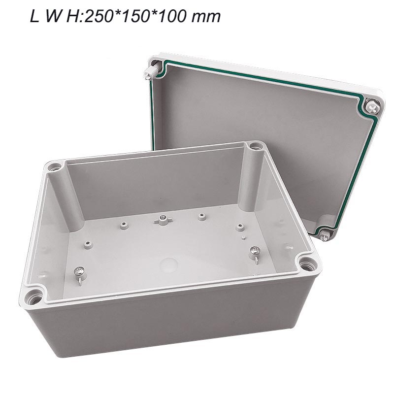 Plastic Waterproof Electric Project Junction Box 250*150*100 High - end plastic waterproof junction box IP67 IK08 4pcs a lot diy plastic enclosure for electronic handheld led junction box abs housing control box waterproof case 238 134 50mm