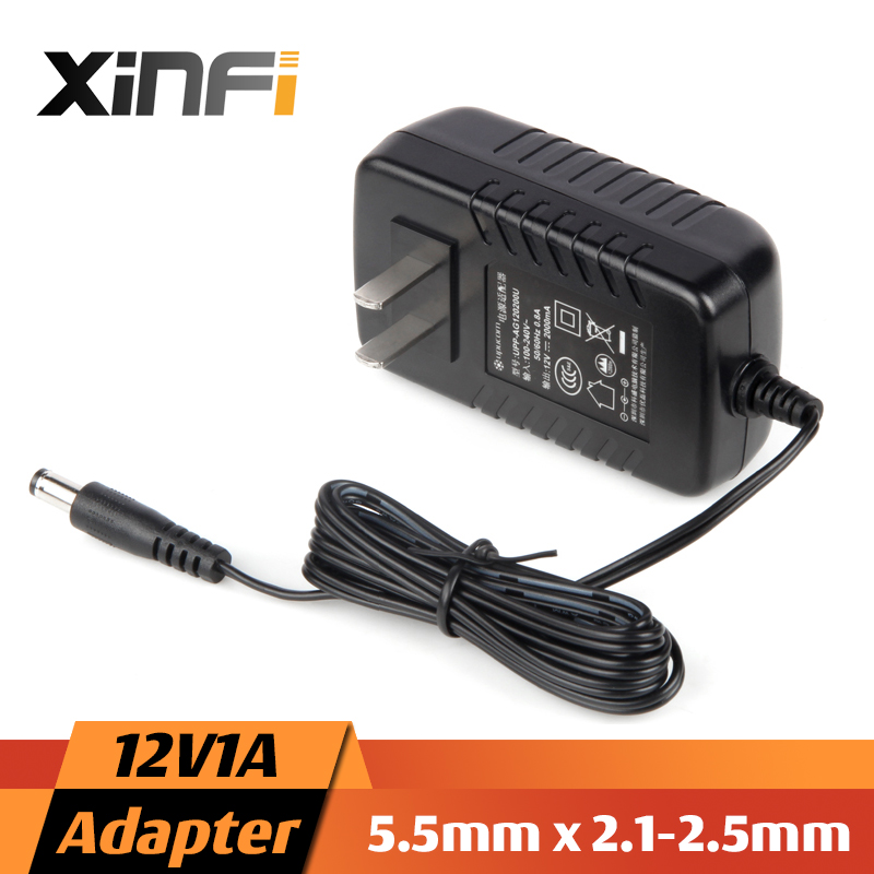 XinFi 2016 NEW 12V1A/2A AC 100V-240V Converter Adapter DC 12V 1A 1000mA Power Supply EU / US Plug 5.5mm x 2.1-2.5mm for LED CCTV ac 110 240v to dc 12v 1a power supply adapter for cctv hd security camera bullet ip cvi tvi ahd sdi cameras eu us uk au plug