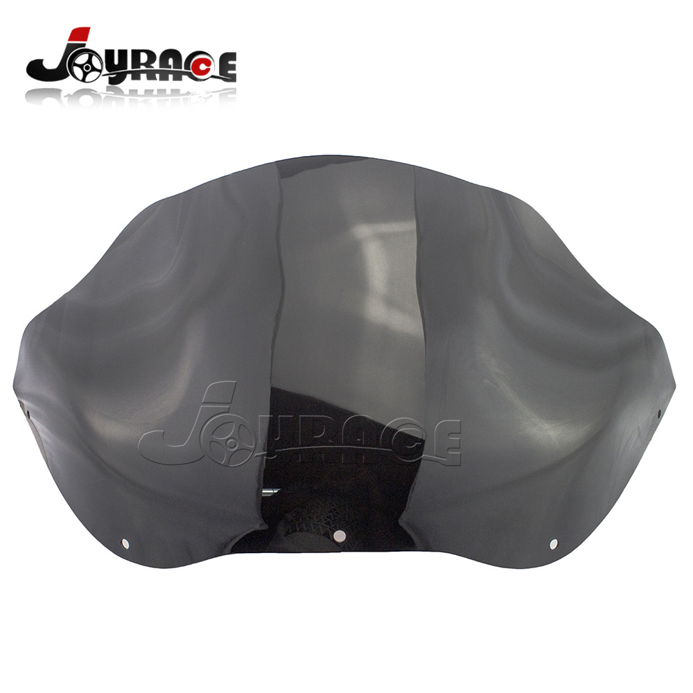 Dark Smoke 12 Tint Wave Windshield For Harley Road Glide FLTR FLTRX 1998-2013 9 windscreen windshield trim case for harley touring road glide fltr 1998 2013