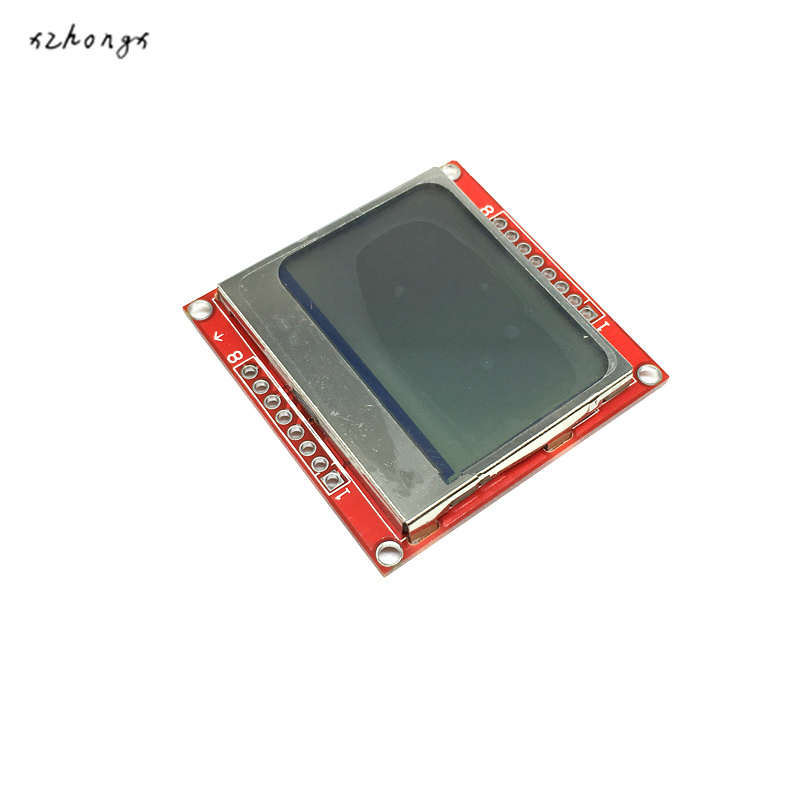 XNWY Smart Electronics LCD Module Display Monitor White Backlight Adapter PCB 84*48 84x84 for Nokia 5110 Screen for arduino