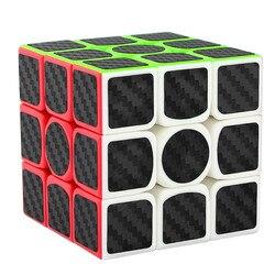 2018 3x3x3 Cubo de Velocidade De Fibra De Carbono Adesivo para Suave Magic Cube Puzzles Magic puzzle brinquedos educativos competição P3