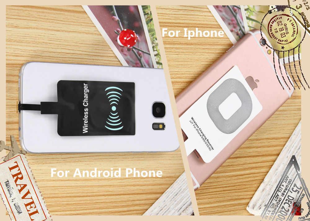 JRGK Ультра тонкое универсальное беспроводное зарядное устройство Qi Беспроводное зарядное устройство приемник Подгонянный для iphone samsung HTC, Huawei, Xiaomi